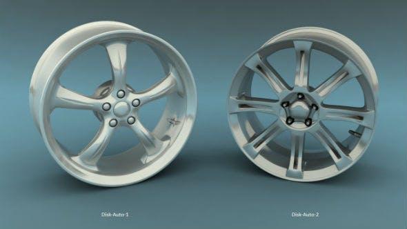 Car's disks (two variants) - 3DOcean Item for Sale