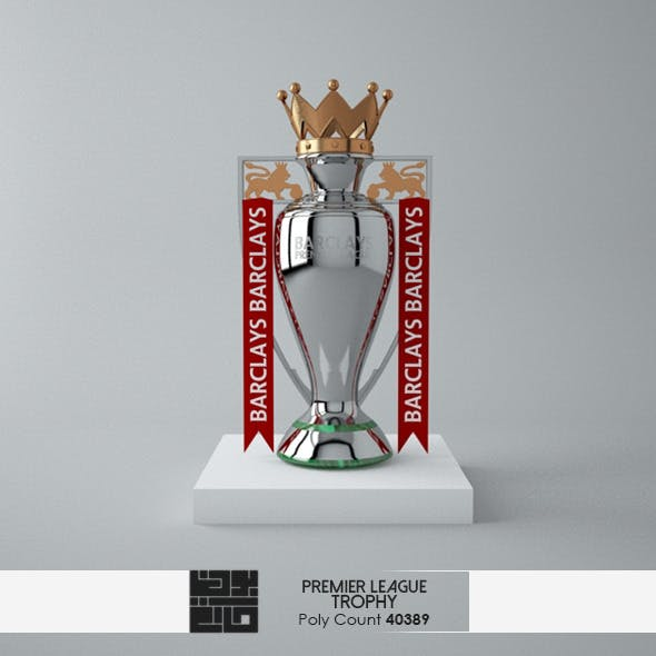 The Premier League Trophy 3D Model