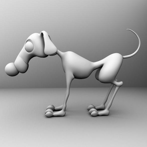 Base Mesh Cartoon Dog