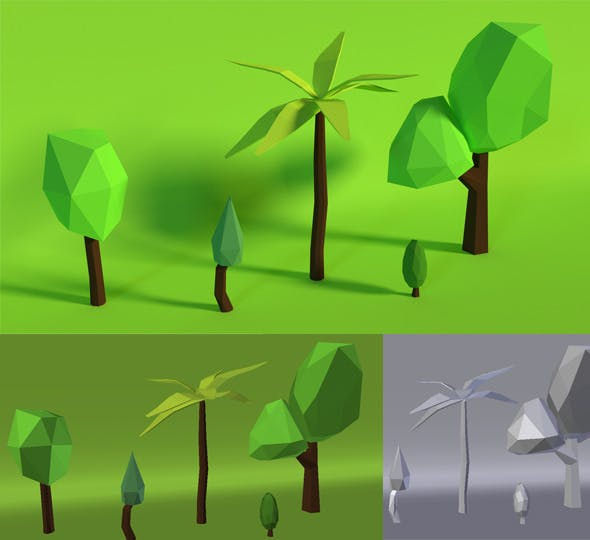 LowPoly Trees .Pack3 - 3DOcean Item for Sale