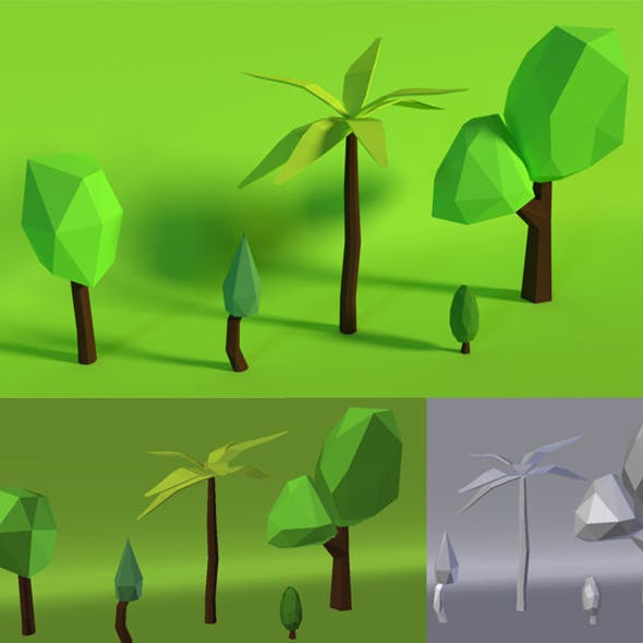 LowPoly Trees .Pack3