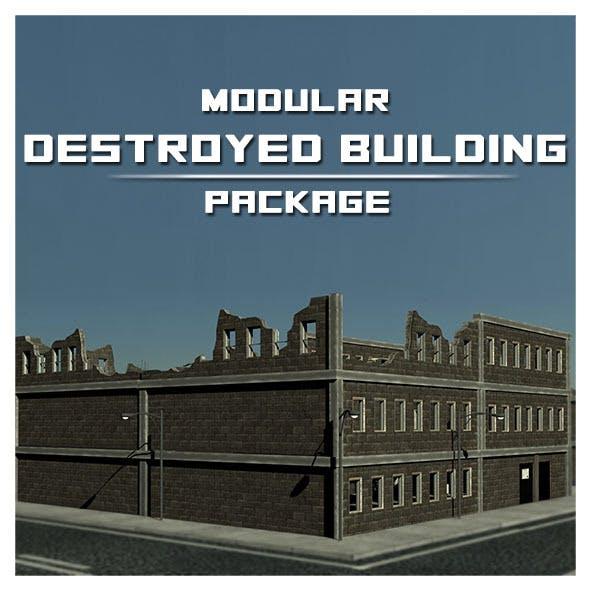Modular Destroyed Building - 3DOcean Item for Sale