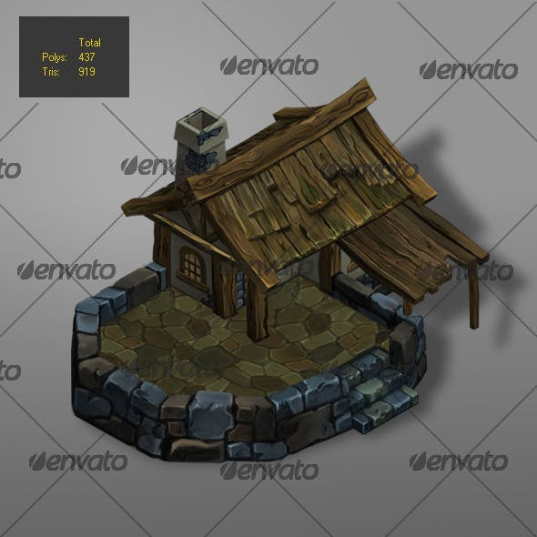 low poly wood house 1