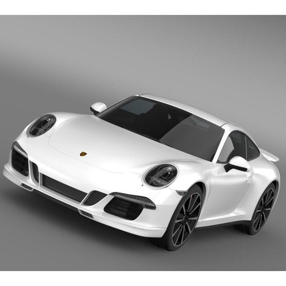 Porsche 911 Carrera 4s Aerokit Cup - 3DOcean Item for Sale
