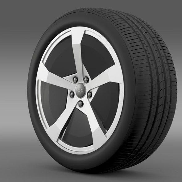 Audi R8 e tron Concept 2013 wheel - 3DOcean Item for Sale