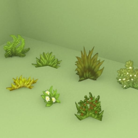 Grass pack low poly