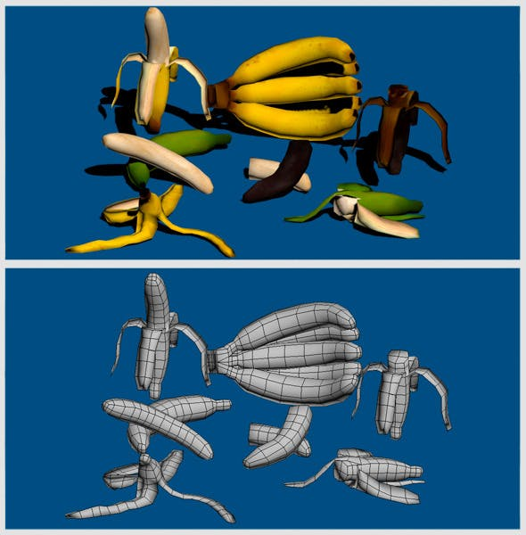 Banana's Low Poly Pack - 3DOcean Item for Sale