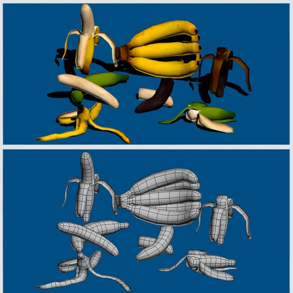Banana's Low Poly Pack