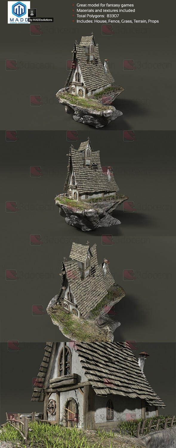 Fantasy House - Fairytale Cottage - 3DOcean Item for Sale