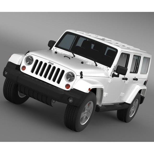 Jeep Wrangler Unlimited Sahara EU spec 2011 - 3DOcean Item for Sale