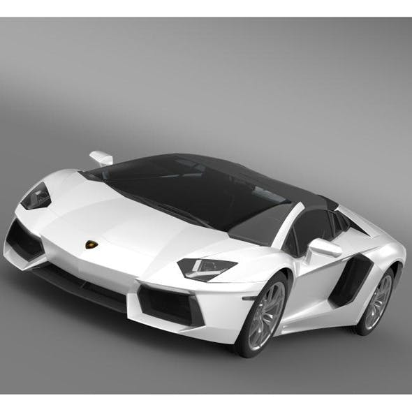 Lamborghini Aventador LP 700 4 Roadster  - 3DOcean Item for Sale
