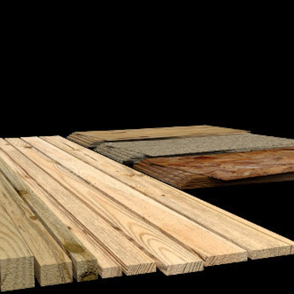 Construction Material Wooden Boards