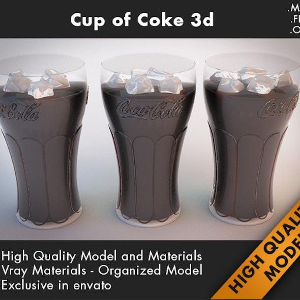 Cup Coca Cola 3d