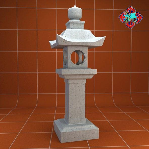 Stone lamp A