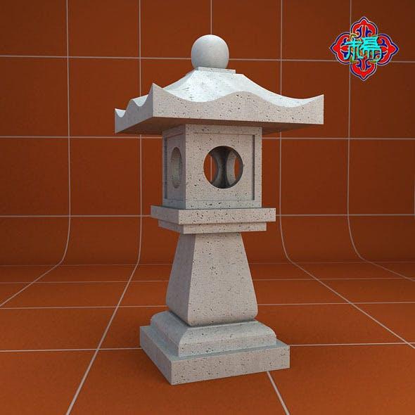 Stone lamp B - 3DOcean Item for Sale