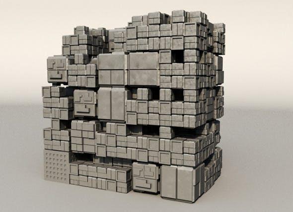 Sci fi Box Building 2 - 3DOcean Item for Sale
