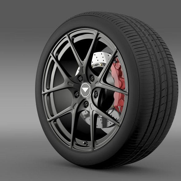 Porsche 991 V GT 2014 wheel - 3DOcean Item for Sale