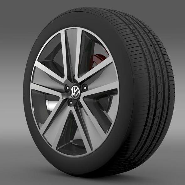 VW CrossPolo 2011 wheel - 3DOcean Item for Sale