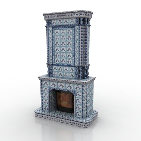 Fireplace Gzhel