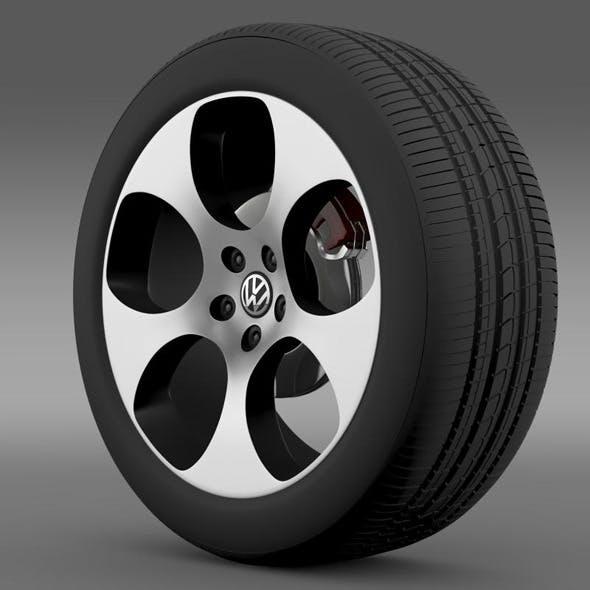 VW Polo GTI 2011 wheel - 3DOcean Item for Sale