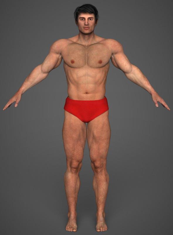 Realistic Bodybuilder Man - 3DOcean Item for Sale
