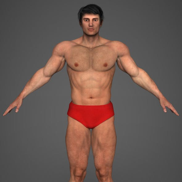 Realistic Bodybuilder Man