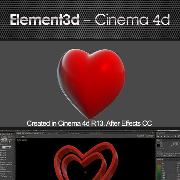 Love Heart Element  3D & Cinema4D