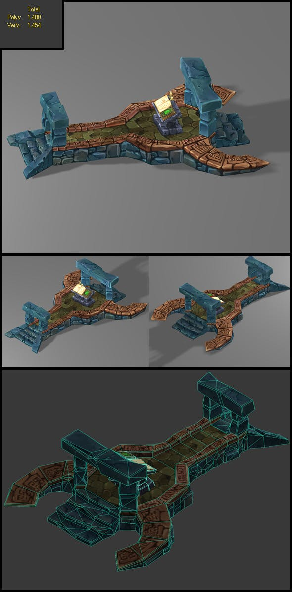 Floor Level Low Poly_3 - 3DOcean Item for Sale