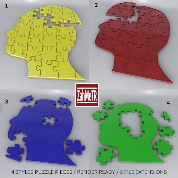Jigsaw Puzzle Head