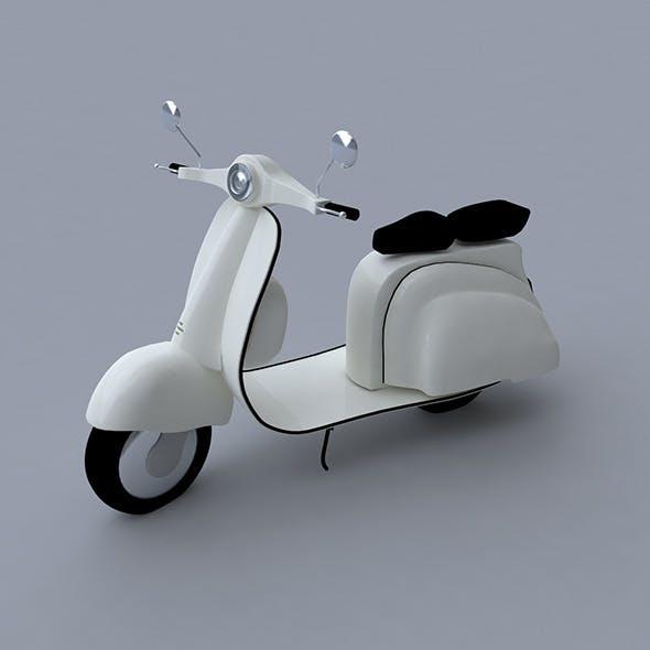 Scooter 3D Model  - 3DOcean Item for Sale