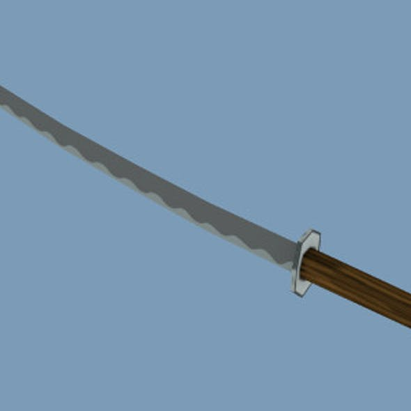 Low poly Samurai Sword