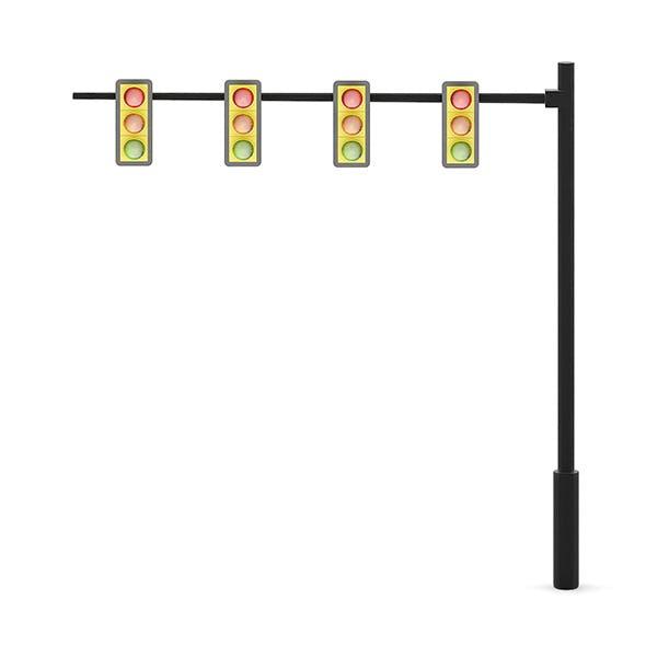 Traffic Lights (over road) - 3DOcean Item for Sale