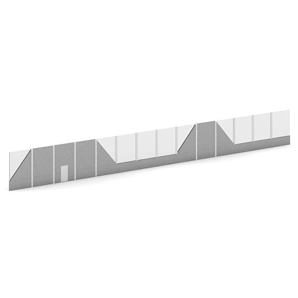 Highway Acoustic Barriers - 3DOcean Item for Sale