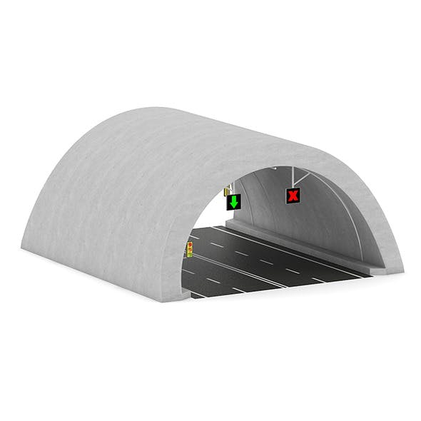 Highway Tunnel - 3DOcean Item for Sale
