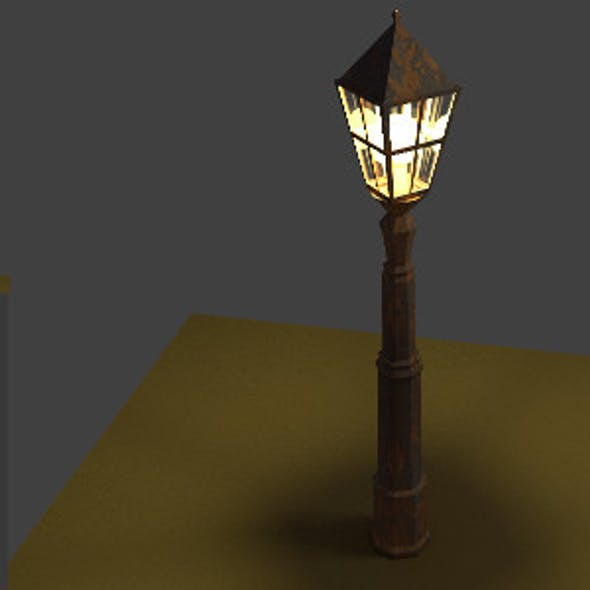 Old Rusty Street Lantern