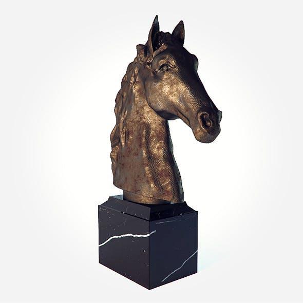 Horse head sculpture - 3DOcean Item for Sale