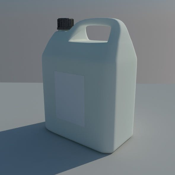 Plastic domestic canister - 3DOcean Item for Sale