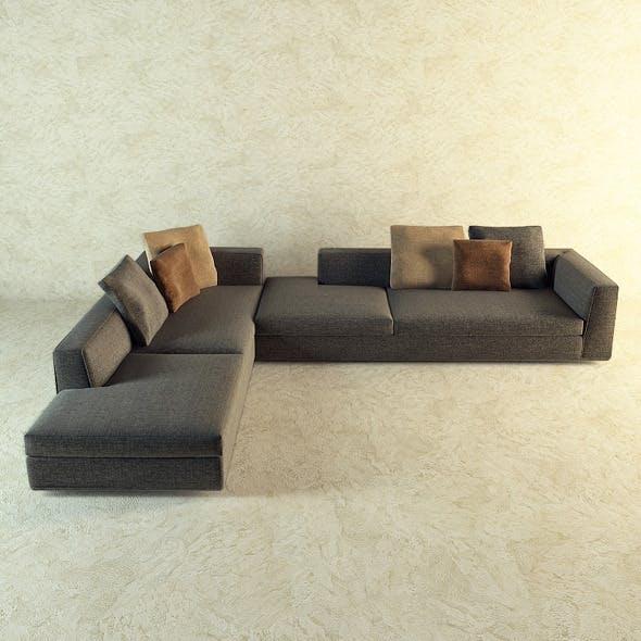 Corner sofa by Minotti  - 3DOcean Item for Sale