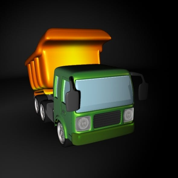 Cartoon Dump or Sand Truck