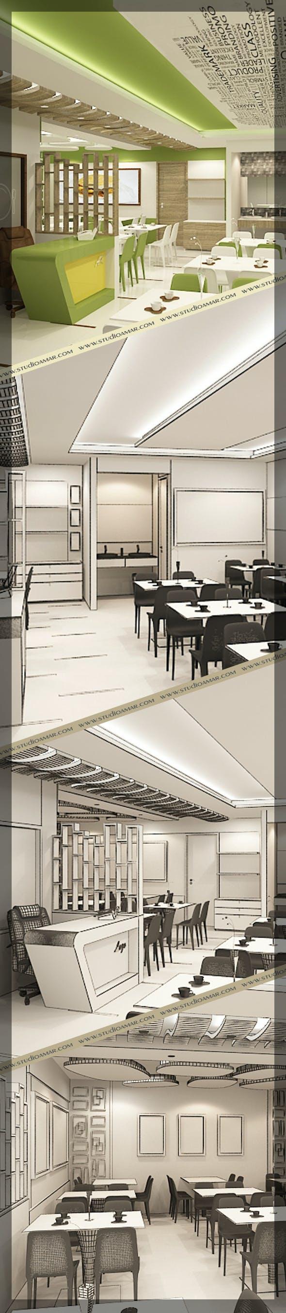 Restaurant 3d interior design 120 - 3DOcean Item for Sale