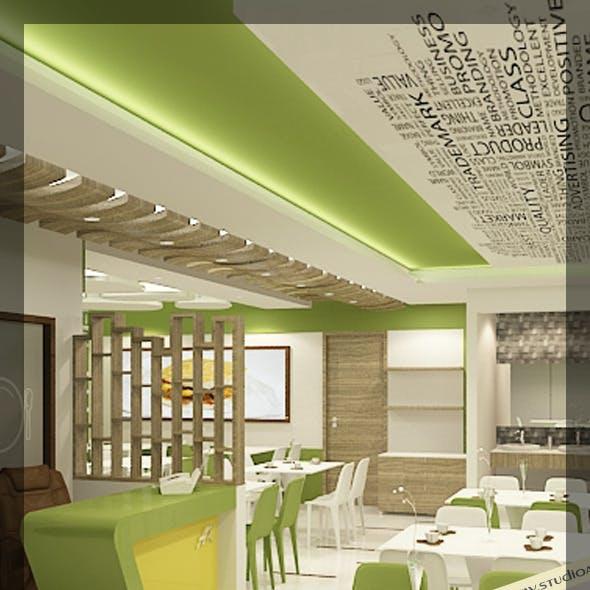 Restaurant 3d interior design 120
