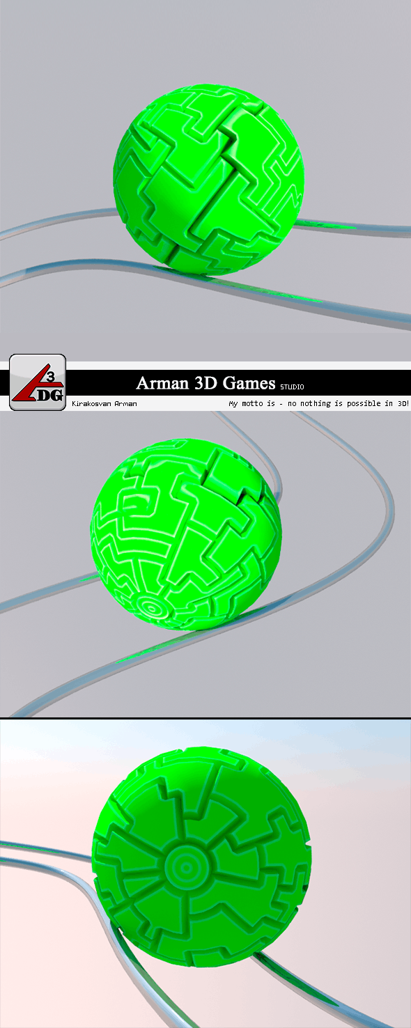 Roll Ball (green) - 3DOcean Item for Sale