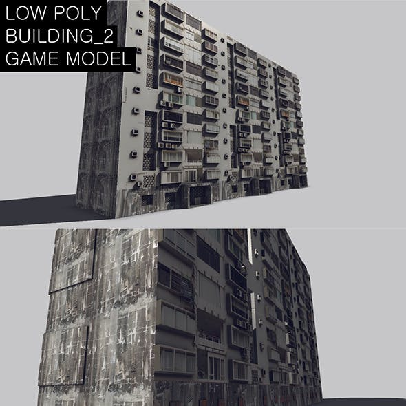 Low Poly Building_2 Game Model