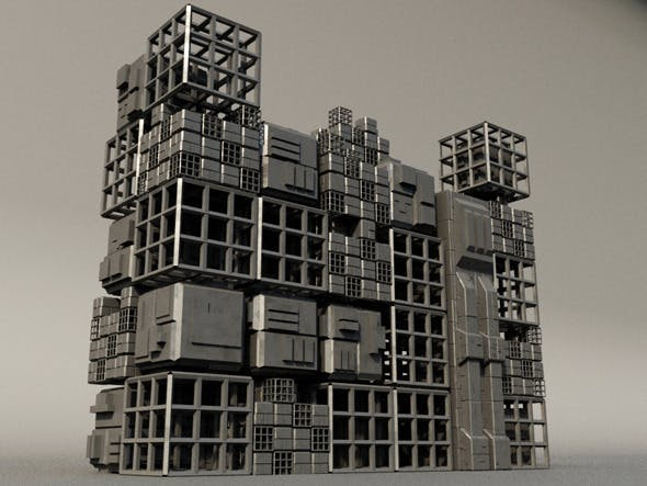 Sci fi Box Building 4 - 3DOcean Item for Sale