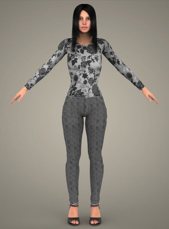 Realistic Young Sexy Girl - 3DOcean Item for Sale