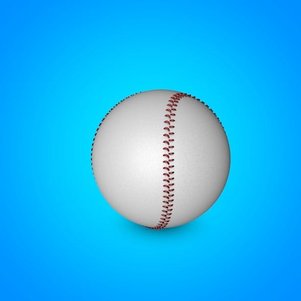 Baseball 3D model - 3DOcean Item for Sale