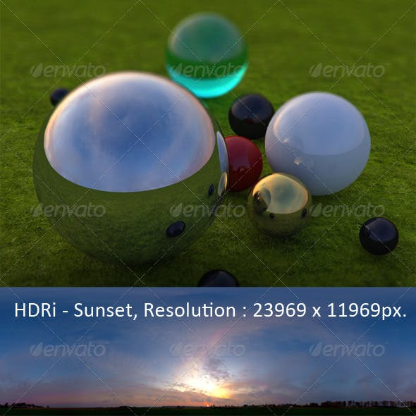 HDRi_Pro_Sunset - 3DOcean Item for Sale