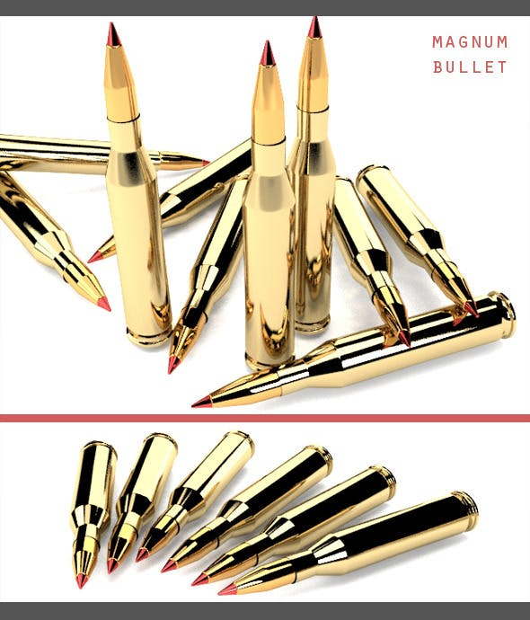 Magnum Bullet - 3DOcean Item for Sale