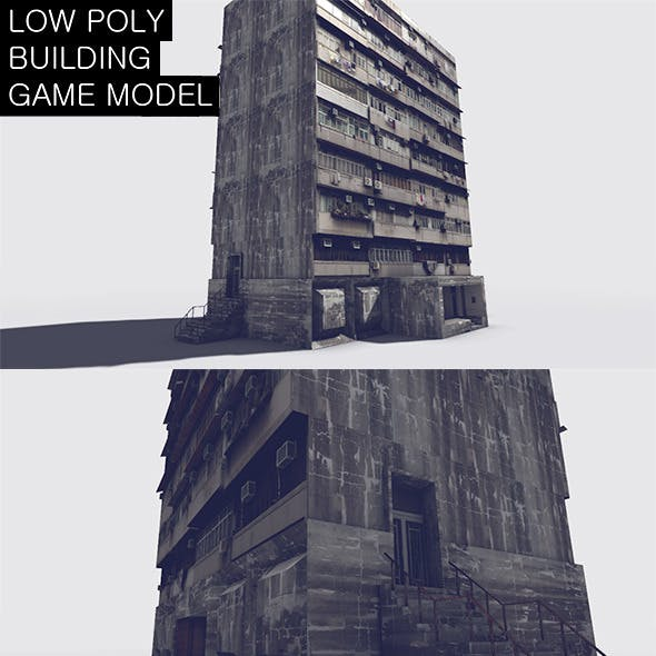 Low Poly Building Game Model