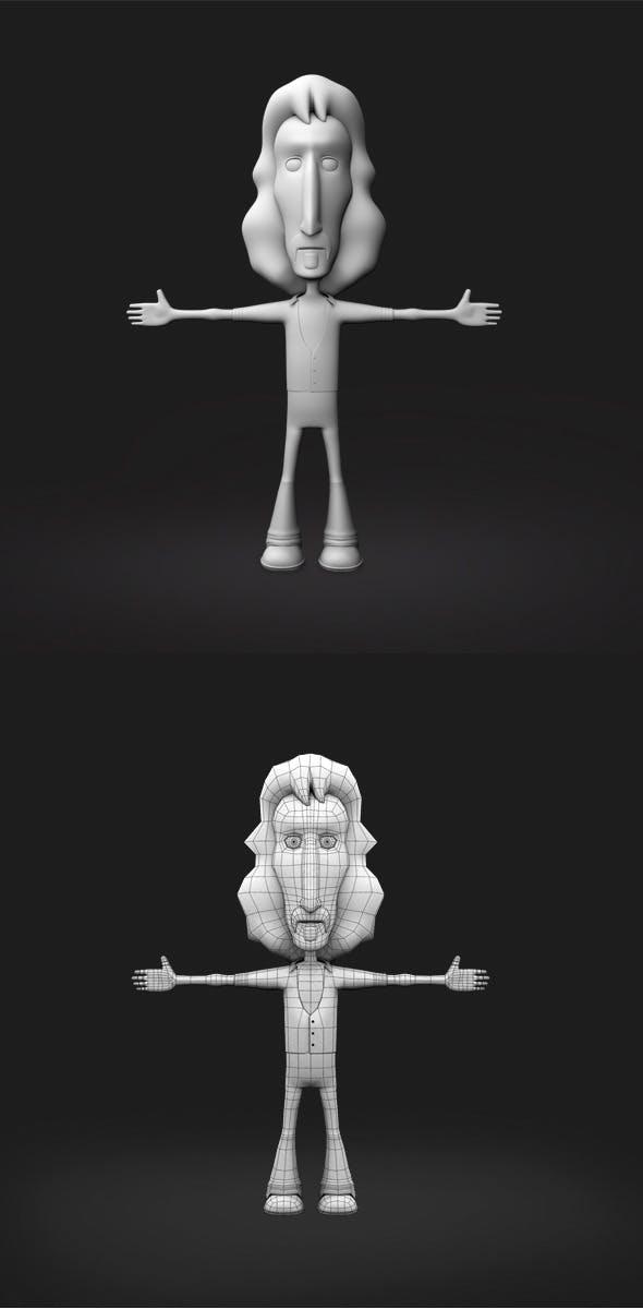 Base Mesh Cartoon Character - 3DOcean Item for Sale